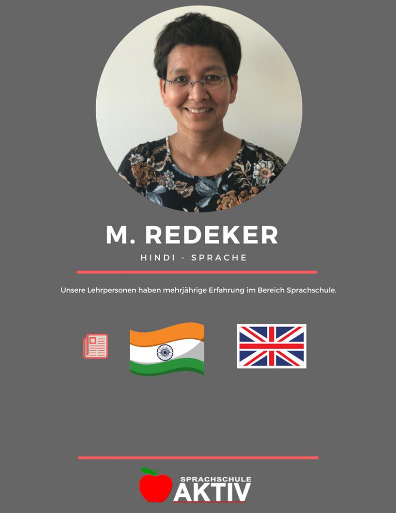 Hindi Sprachlehrerin Zürich