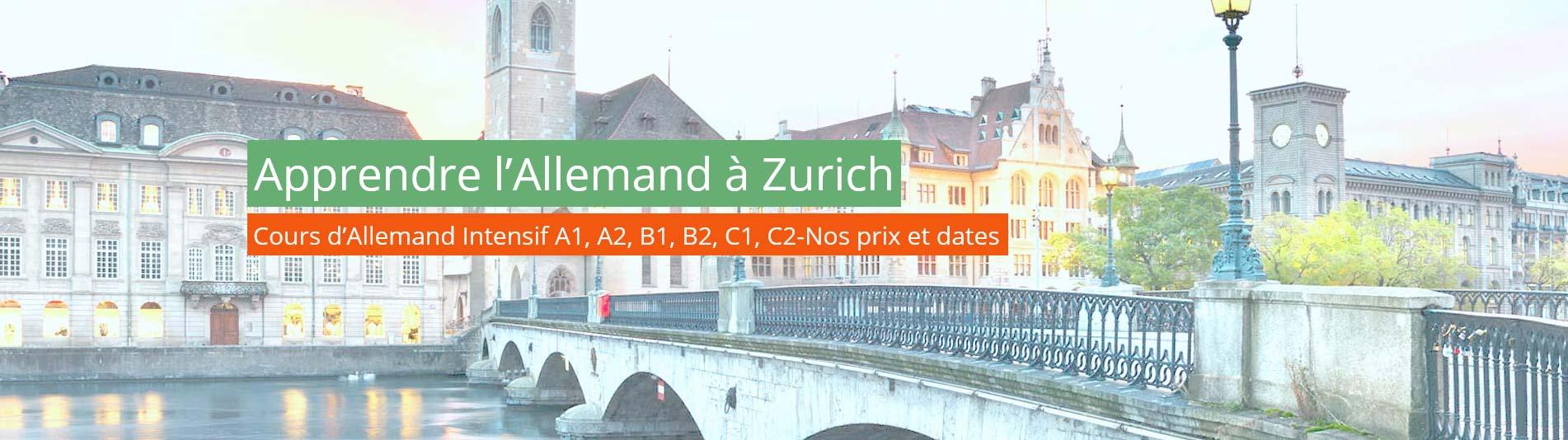 Apprendre l'allemand à Zurich